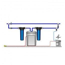Умягчитель Аквафор WaterBoss 400P + Гросс 2 шт. + Морион + Соль 2 мешка